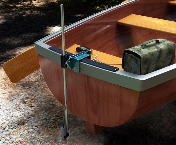 как закрепить эхолот на дюралевой лодке