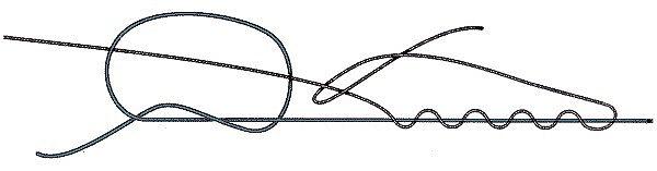 Крепление поводка узлом клинч