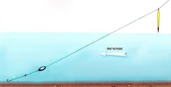 ловля поппером на течении