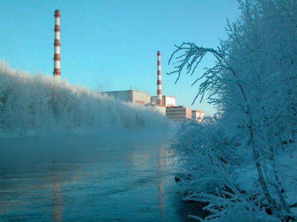сброс тепловой воды АЭС