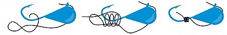 Вязка мормышки с ушком под углом