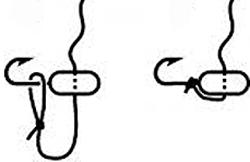 Вязка мормышки без ушка