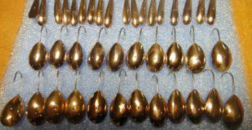 мормышки в цвет золота