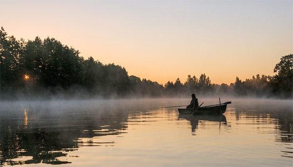 Зороька на реке
