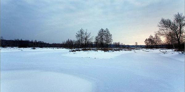 Зимний изгиб реки
