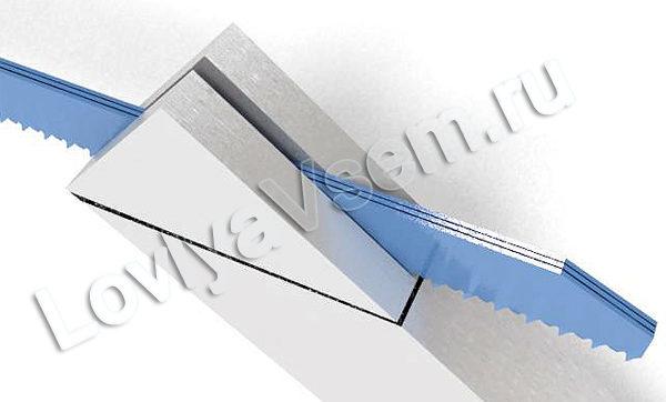 Пропиливание паза для ножа квока
