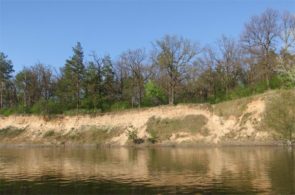 Обрывистый берег реки